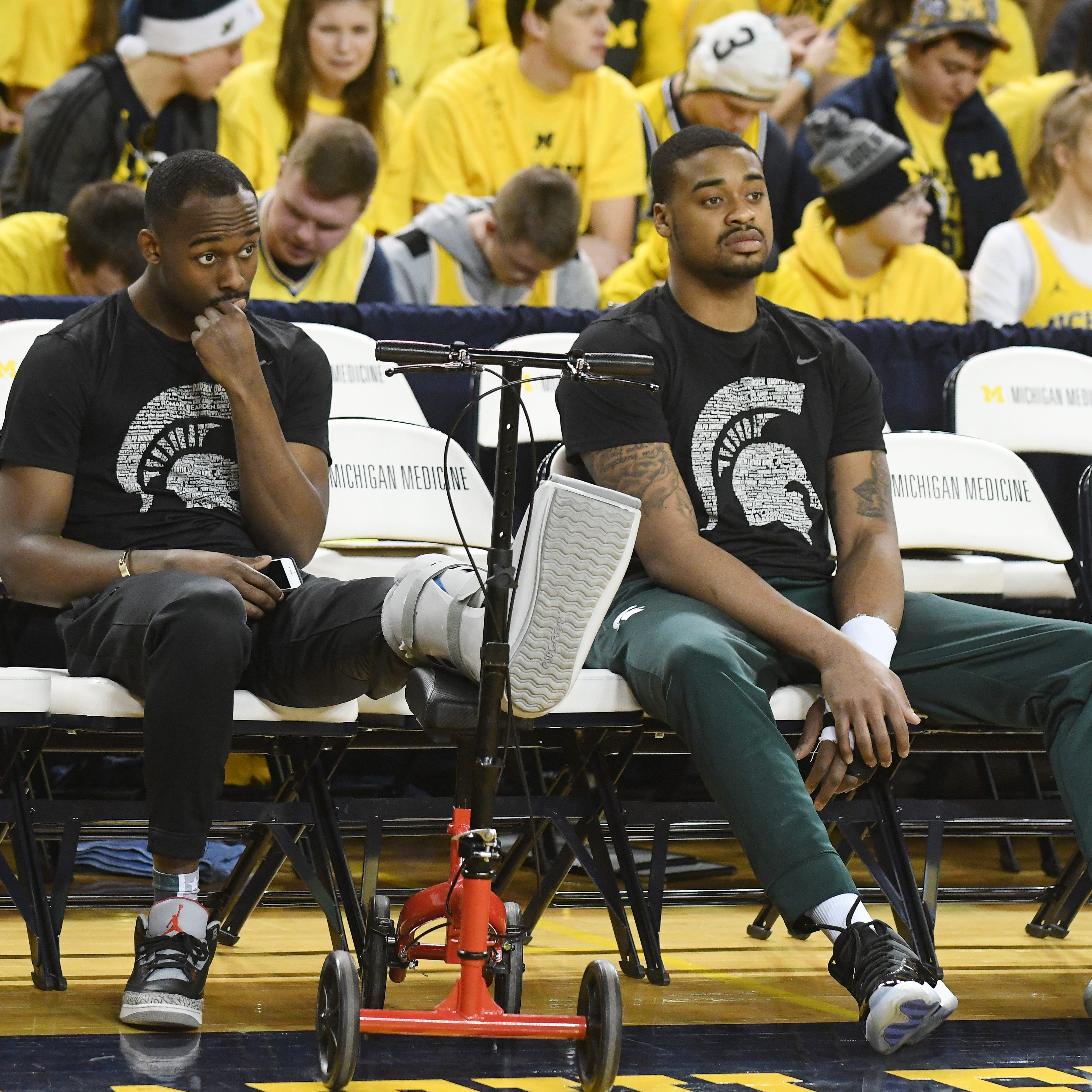 Michigan State banged up, but Nick Ward appears to be making progress
