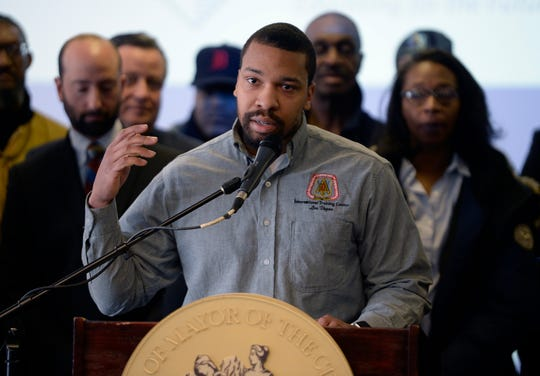 Carpenter John Perkins Jr. talks about the proposed training center and the opportunities for anyone who wants to pursue a career in carpentry.