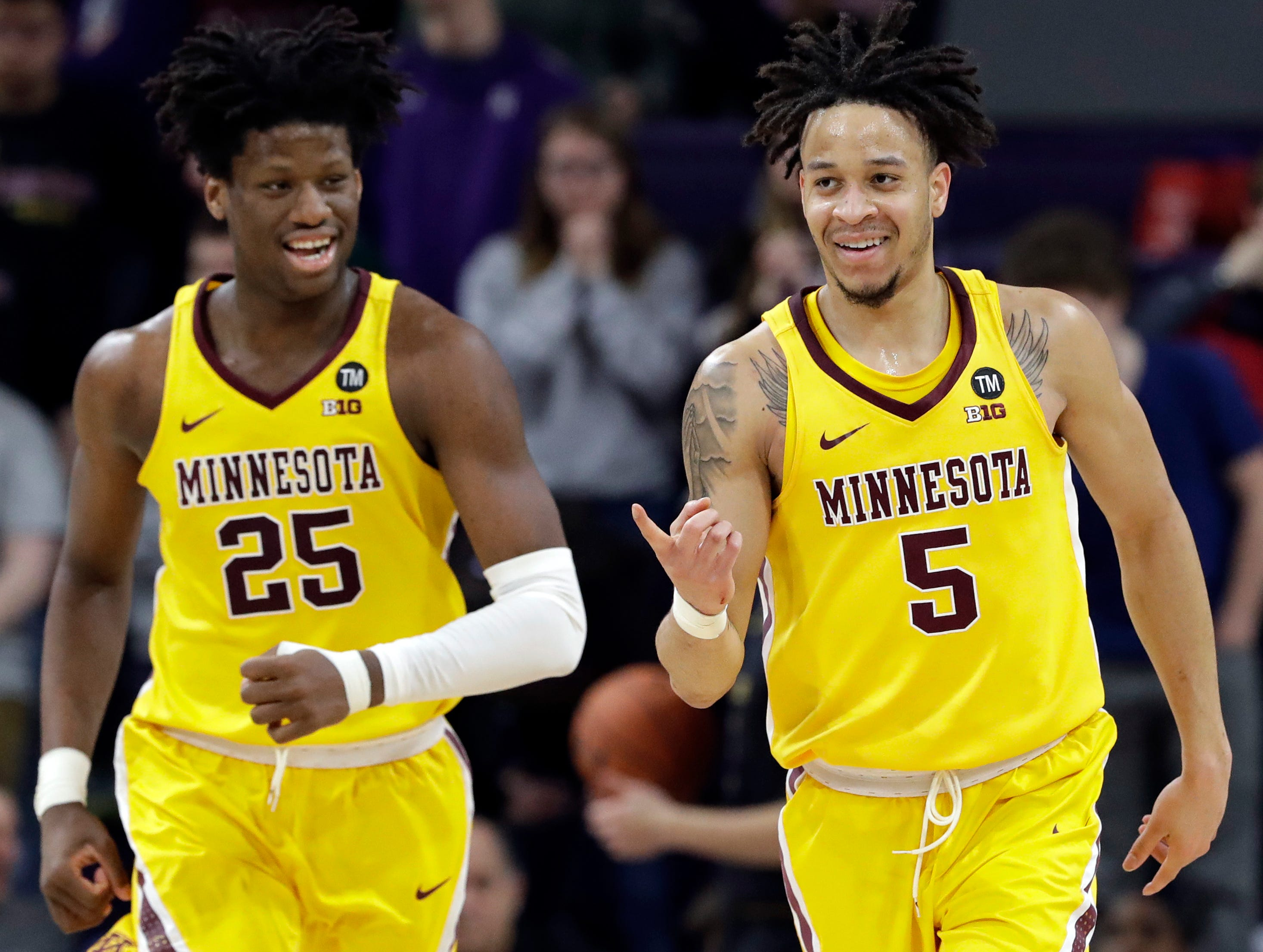 9. Minnesota (18-11, 8-10) – The Golden Gophers have been living life on the bubble for a while now and a win at Northwestern sure didn't so much to change that. The final week of the regular season, however, offers plenty of opportunity. With games at home against Purdue and at Maryland, there is nothing but opportunity left for the Gophers to solidify their NCAA Tournament resume. Last week: 9.
