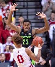 Xavier Tillman (23) and Michigan State could still grab a share of the Big Ten regular-season title, though the Spartans will need some help from Purdue.