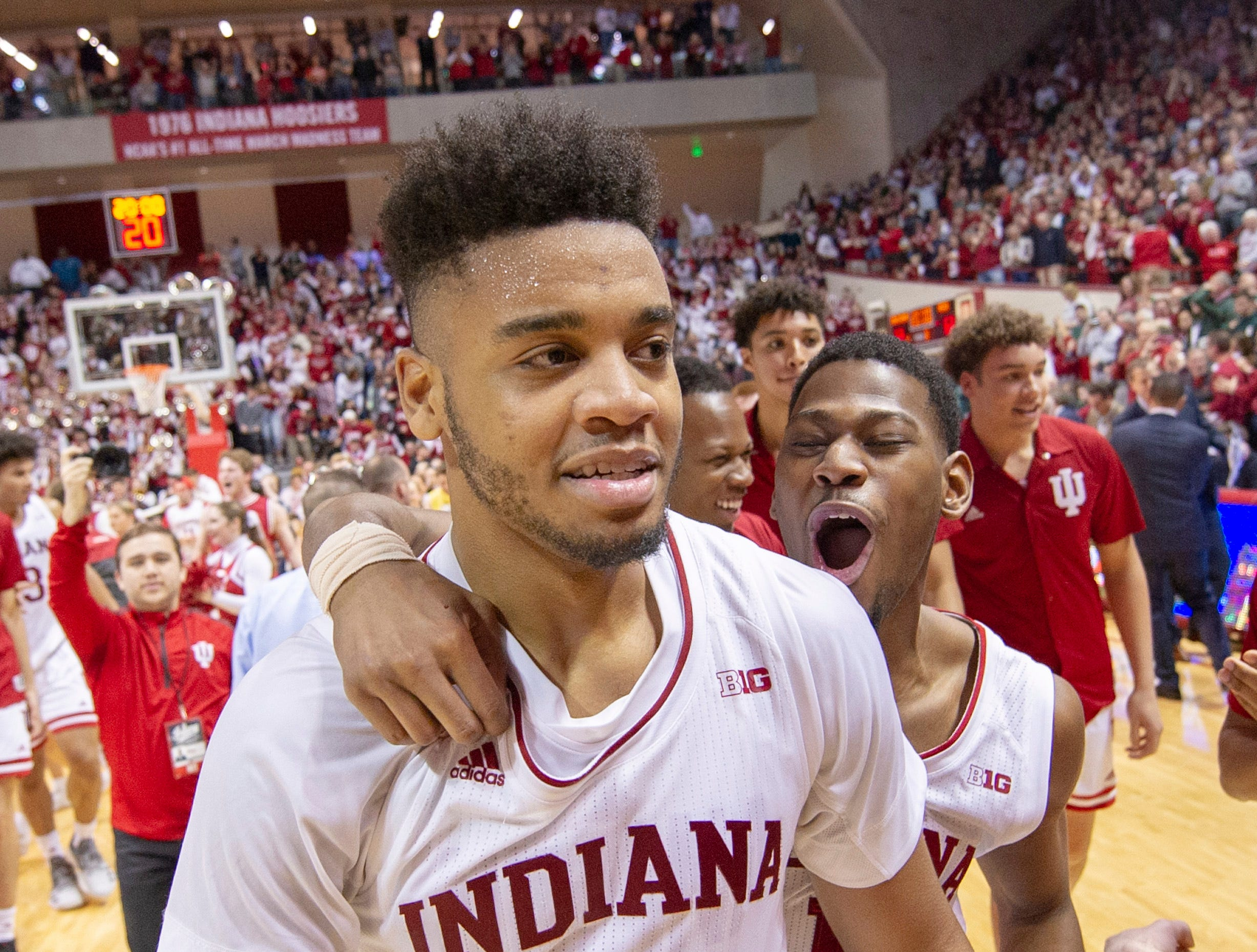 10. Indiana (15-14, 6-12) – It's probably all too little, too late for the Hoosiers, who beat Wisconsin and Michigan State this week for their first winning streak in a couple months. The metrics might say the Hoosiers are on the bubble, but with Illinois and Rutgers left, only a run to the Big Ten tournament championship game will likely get Archie Miller's team into the discussion for an at-large bid. Last week: 13.