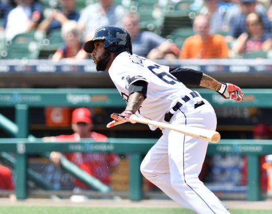 Ronny Rodriguez has hit three home runs this spring for the Tigers.