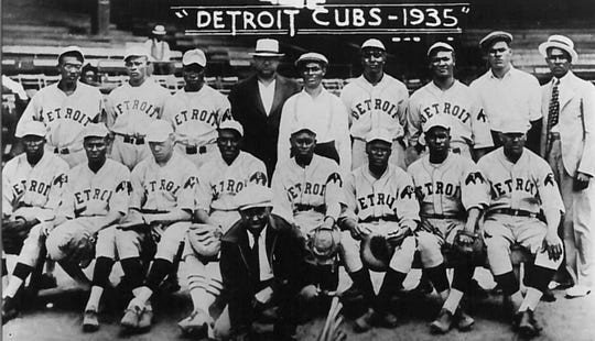 The Detroit Cubs, one of the Negro League teams that used Hamtramck Stadium in 1935.