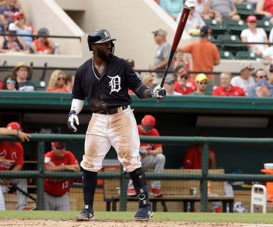 Tigers' Josh Harrison had an RBI double, stole third base and was hit by a pitch in Detroit's 6-3 win over Pittsburgh Saturday.