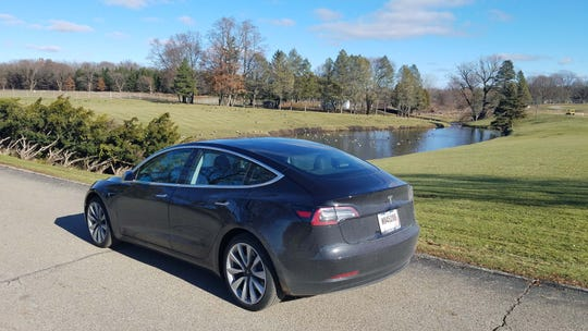 Detroit News auto critic Henry Payne drove to Eaton's proving grounds in Marshall, Michigan, in his Tesla Model 3 on a crisp December day.
