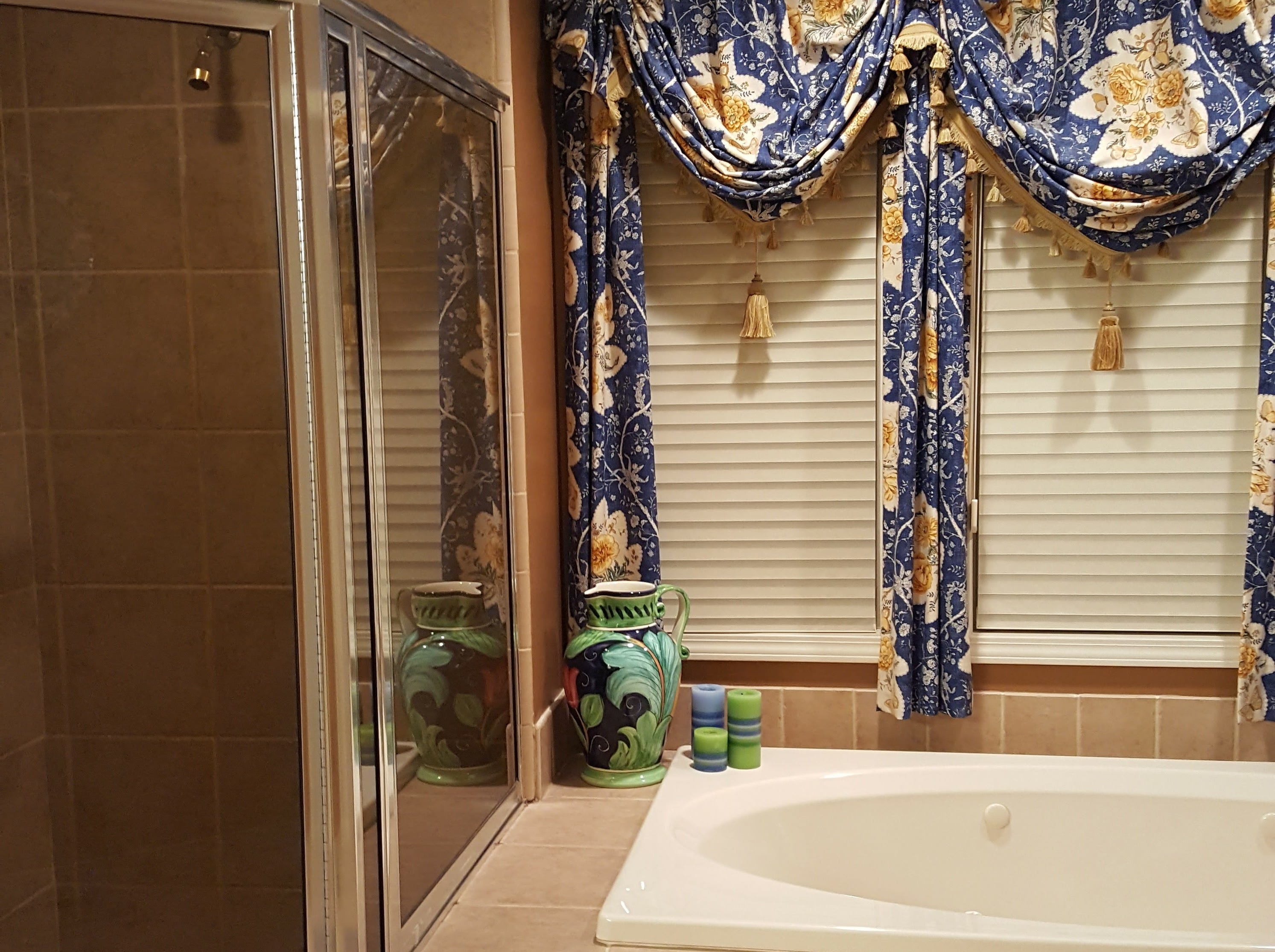 Patricia Warner's original Mediterranean-style master bath featured a Jacuzzi tub that was rarely used and took up a lot of space.