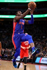 Pistons guard Reggie Jackson has posted double figures in scoring in 16 straight games.