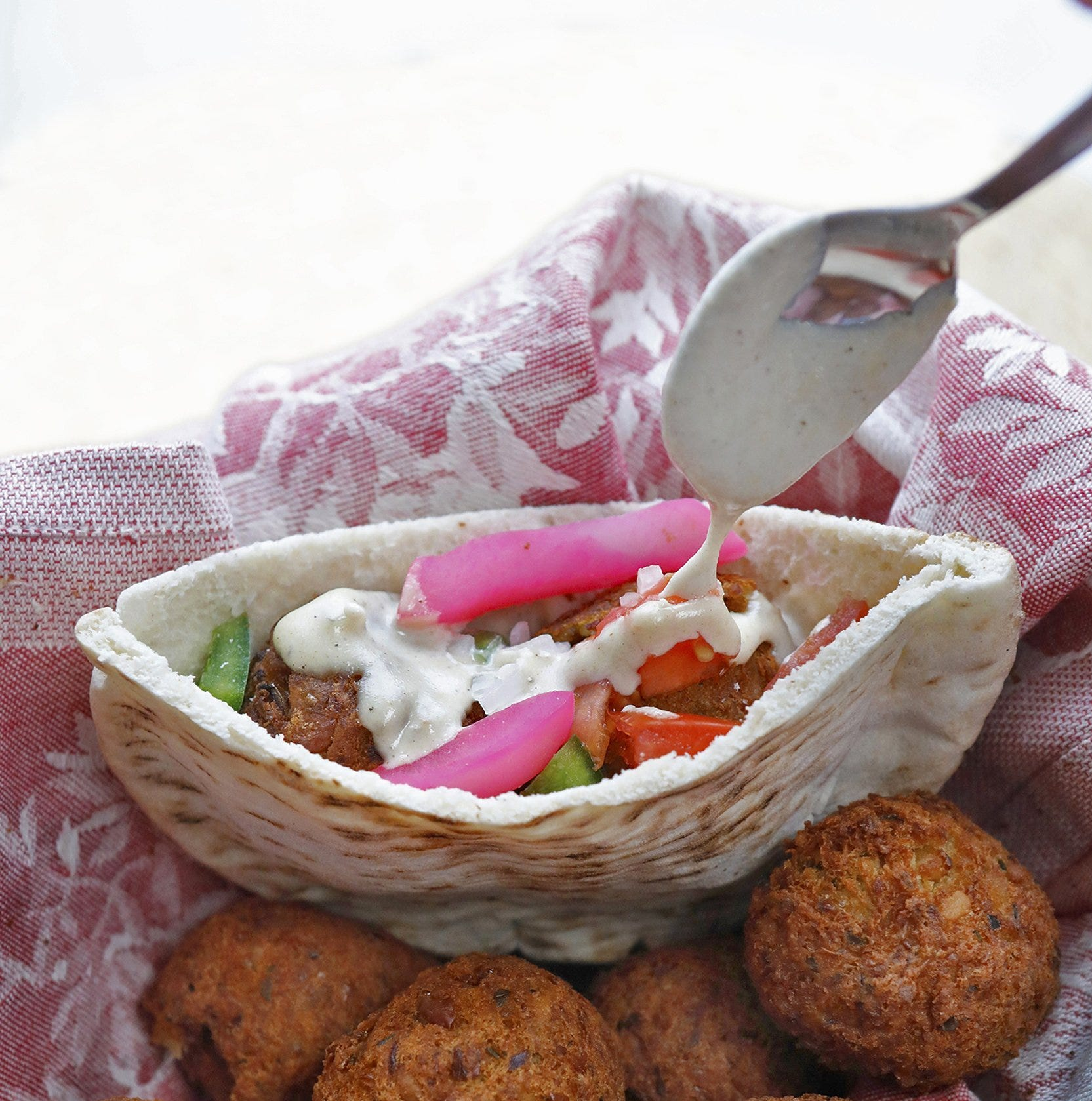 Falafel, the ubiquitous street food of the Middle East