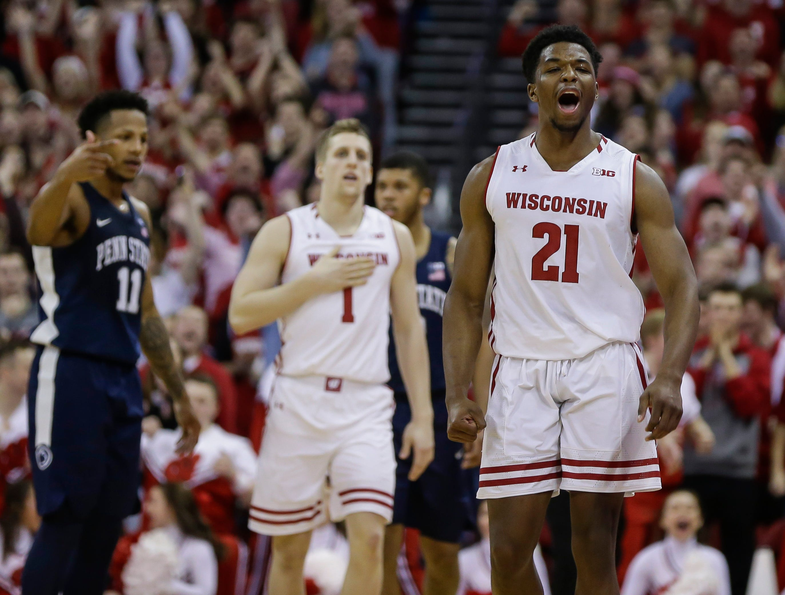 4. Wisconsin (20-9, 12-6) – The Badgers missed a chance to solidify themselves in the top four of the conference with an overtime loss at Indiana early in the week but bounced back to getting past a pesky Penn State team. The opportunity for the double-bye in the conference tournament is still out there if the Badgers can take care of business in the final week with a home game against Iowa followed by a trip to Ohio State to close the season. Last week: 5.