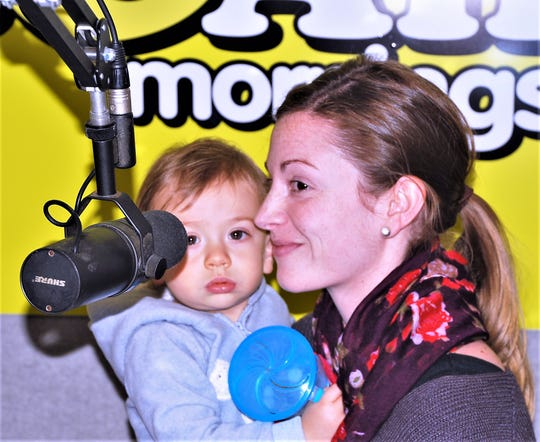 Julia Hickey and her son Connor take part in the 2018 Children's Miracle Network Radiothon at Arnot Ogden Medical Center.