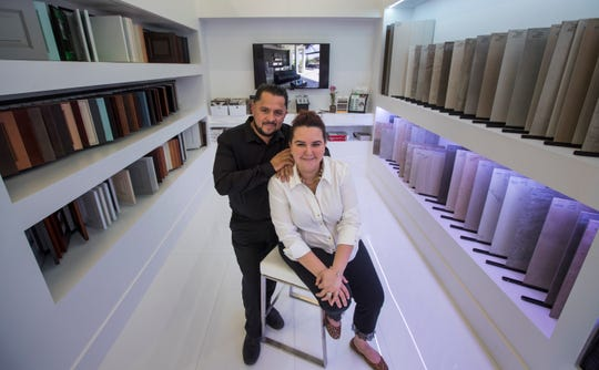 Marlin and Jose  Arias lost everything when the housing market turned. Now they are the owners of the new Armex Design Studio in Cape Coral.