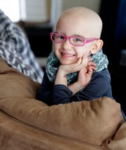 Lily Wertel, 6, of Wrightstown, Wis. went through chemotherapy treatments after being diagnosed with an inoperable tumor in her lower abdomen. A fundraising benefit is scheduled for May 19, 2019, at the Riverside Ballroom in Green Bay, Wis. Sarah Kloepping/USA TODAY NETWORK-Wisconsin