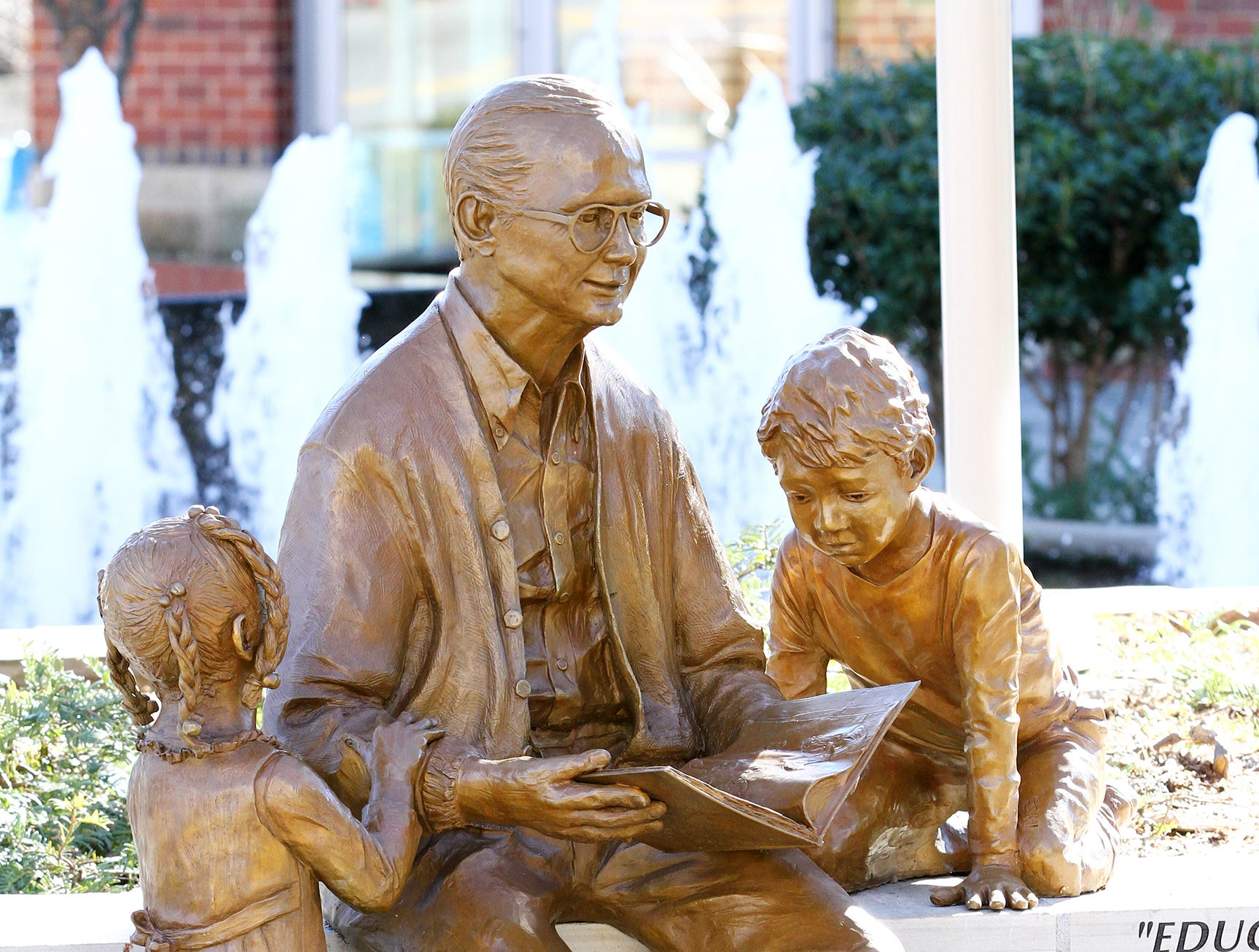 Dick Riley by Zan Wells was created to honor Dick Riley's outstanding contributions to Greenville and the State of South Carolina