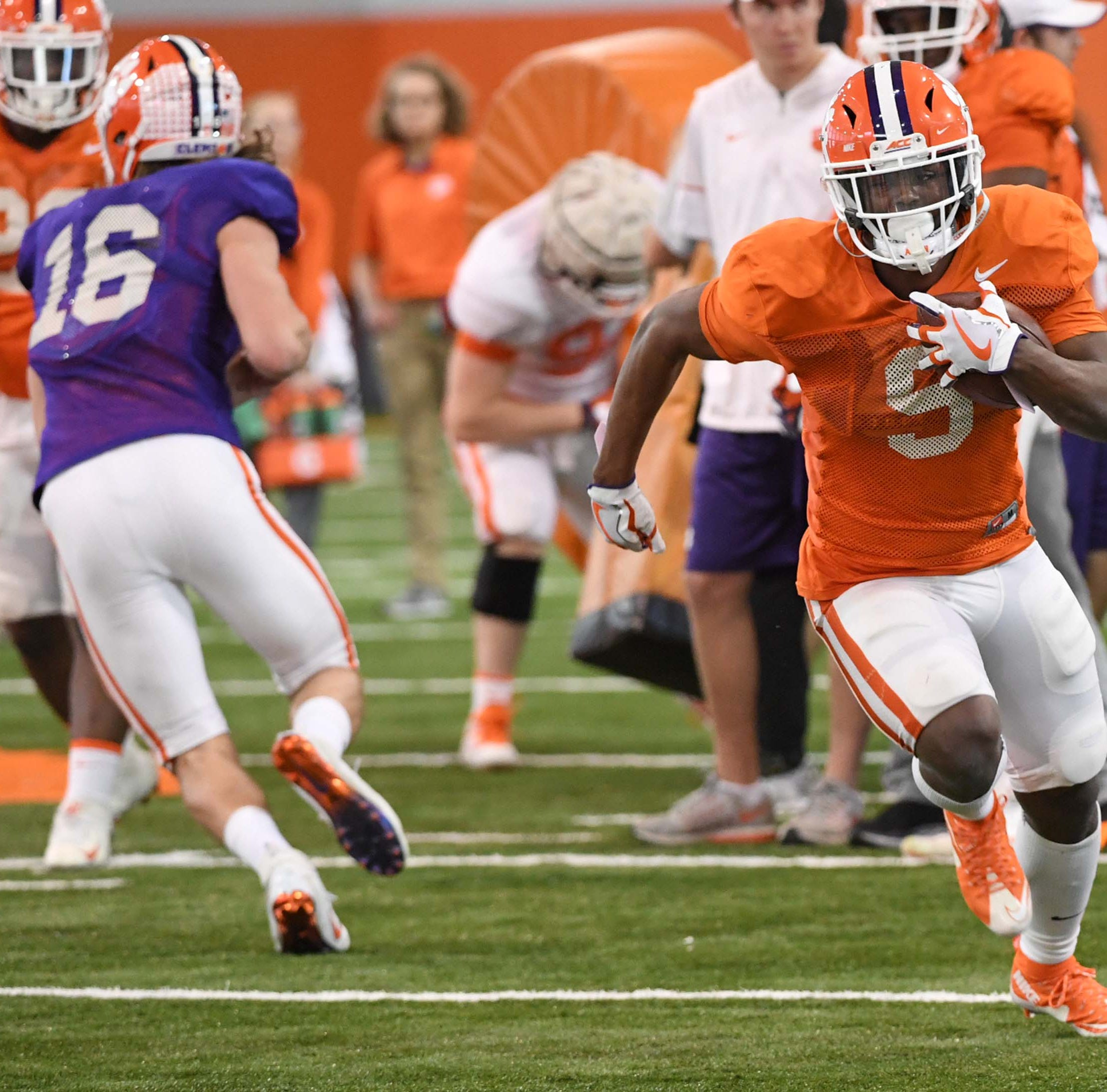 Home cookin': Clemson running back Travis Etienne beefs up over spring break