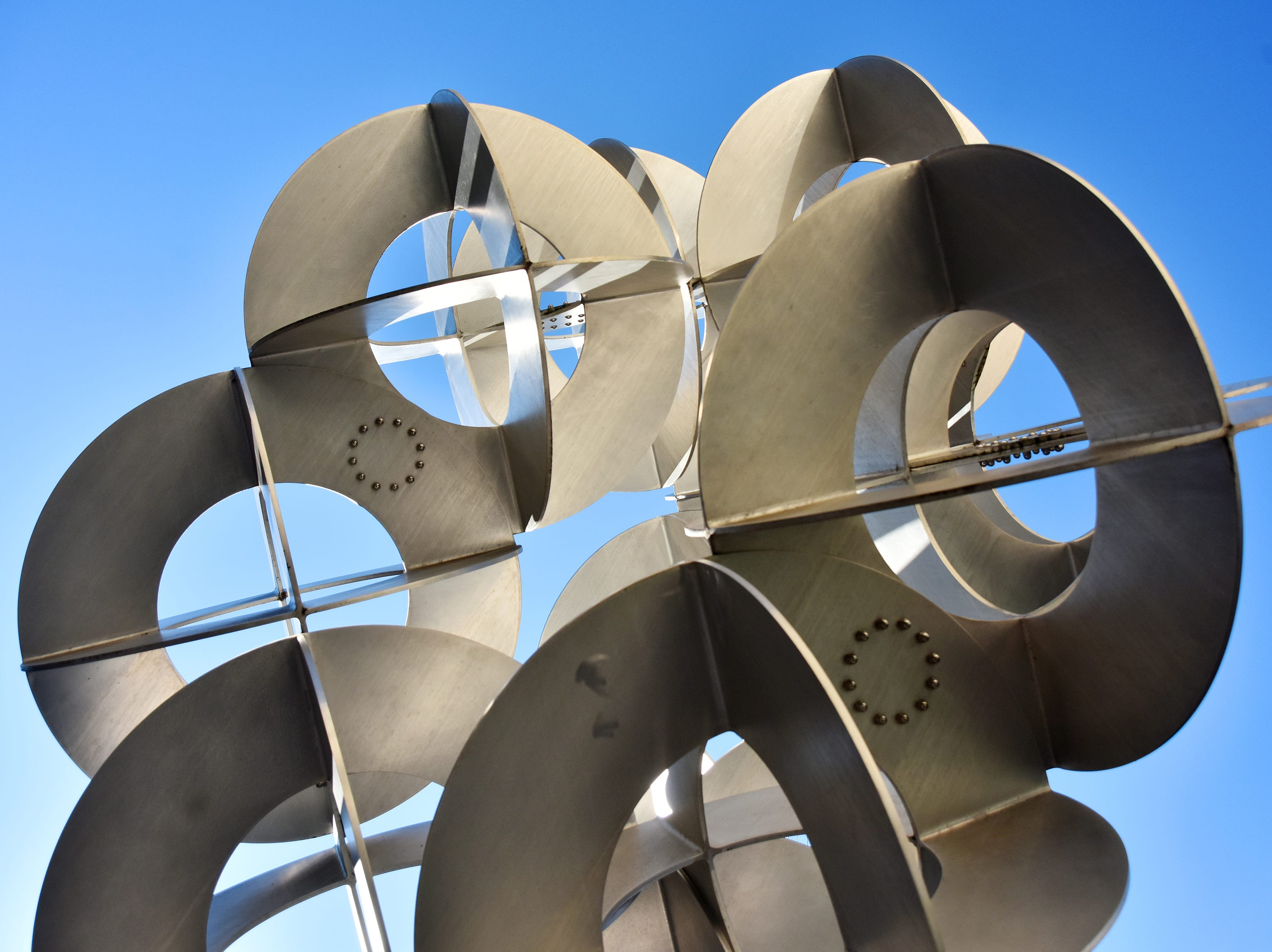 Orbital Trio by John Acorn is located in front of the Hyatt in downtown Greenville.