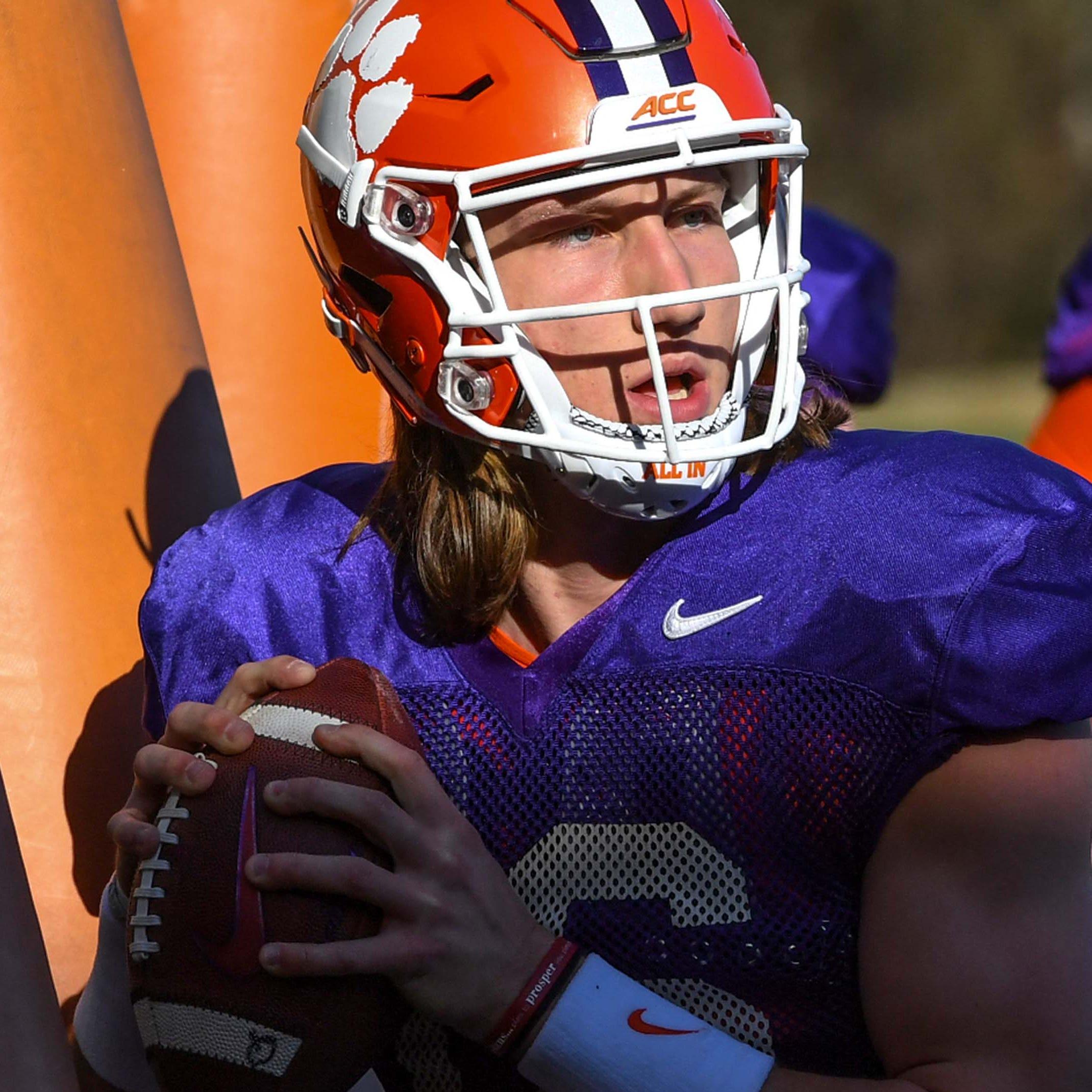 Clemson QB Trevor Lawrence enters spring practice as college football's biggest star