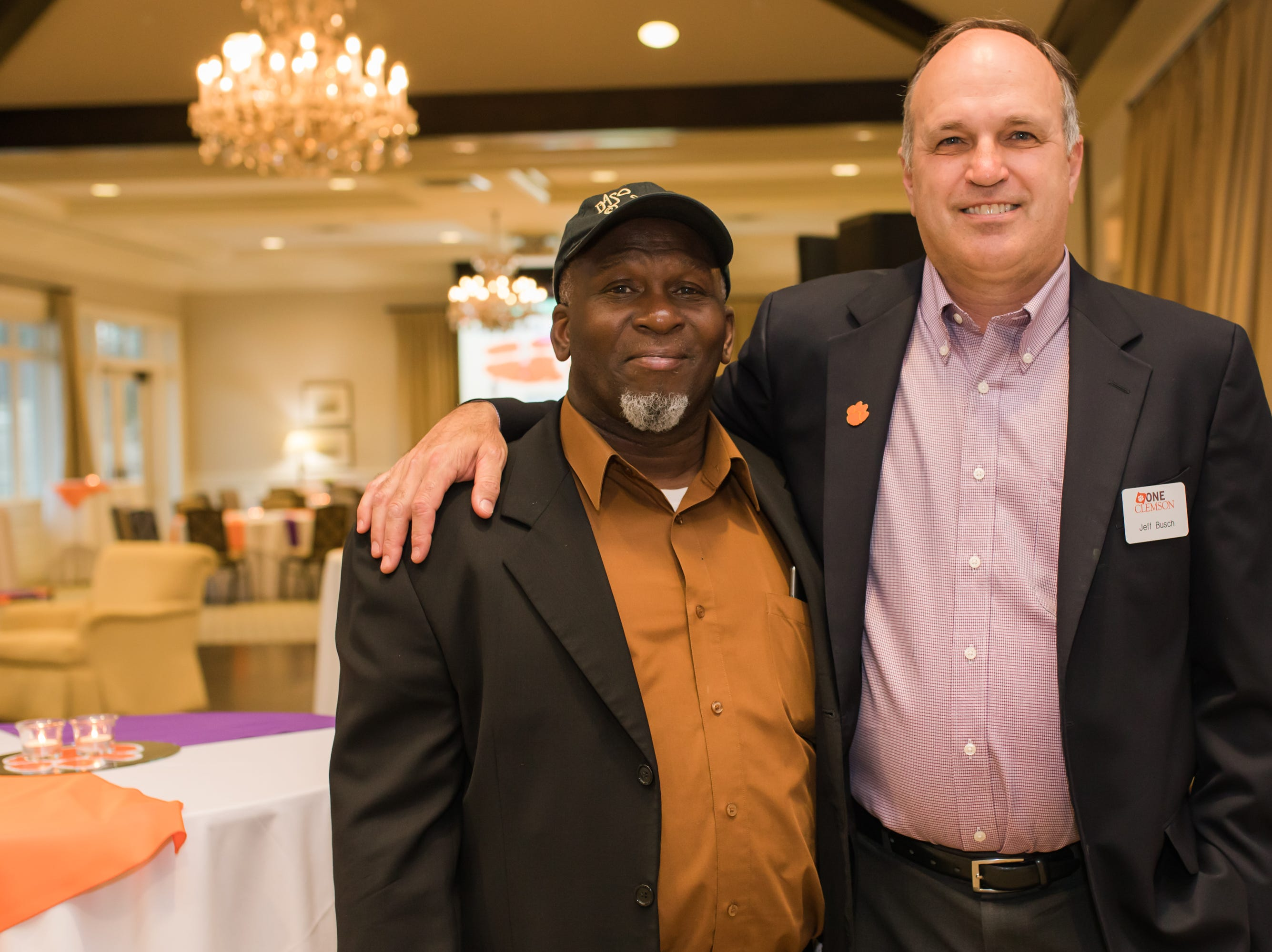 The Clemson ONE Party and Auction was held at the Greenville Country Club and included heavy hors d'oeuvres, open bar, music, silent auction and live auction. Clemson favorites at this year's Main Event included Brian Dawkins, Ben Boulware, CJ Spiller and Tajh Boyd. Proceeds from this event are used to fund Clemson student-athlete internships.