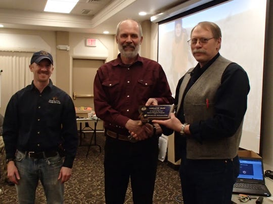 Marc Kloker, Region 6 Information and Education Manager, Gifford Fjeld, and Wayde Cooperider, Statewide Outdoor Skills and Safety Supervisor
