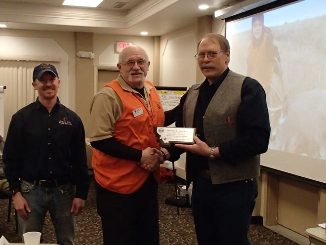 Marc Kloker, Region 6 Information and Education Manager, Don Holden, and Wayde Cooperider, Statewide Outdoor Skills and Safety Supervisor