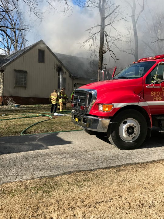Spottsville and Zion were two rural VFDs that responded with the city to the fire on Tanglewood Drive Monday.