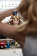 Sarah Daniels prepares to play the role of Sandy in a production of ÒGreaseÓ at Beef & Boards Dinner Theatre in Indianapolis.