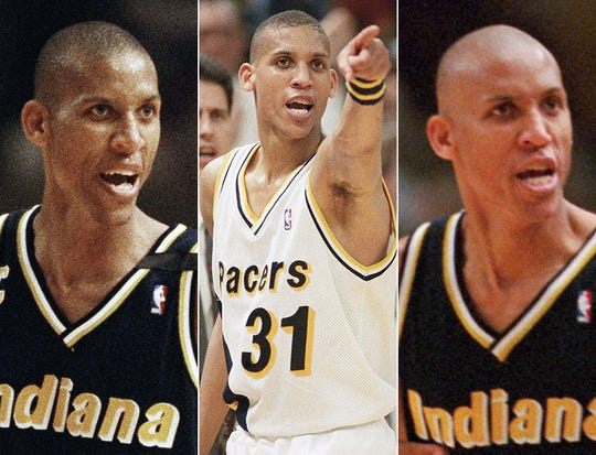 Reggie Miller could stare down opponents and their fans. All these are against the New York Knicks at various times in the 1990s.