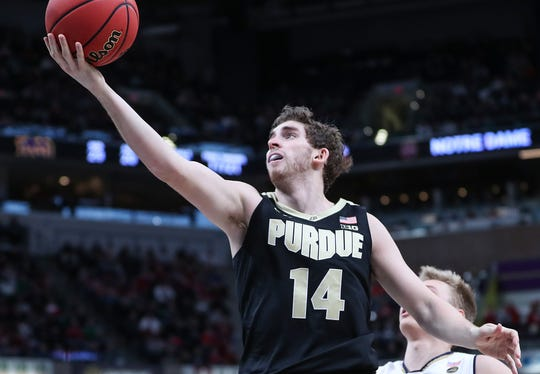Purdue guard Ryan Cline's scoring increase from last season to this season is the largest in the Big Ten
