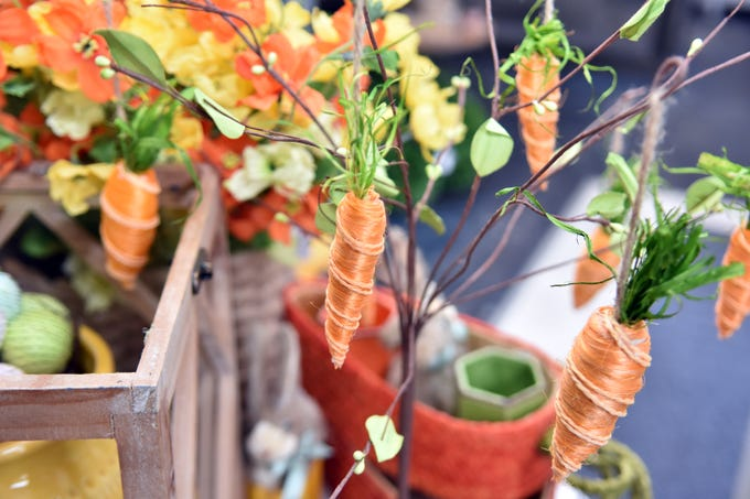 Add a festive touch for Easter with this adorable carrot tree from Real Deals in Powell.