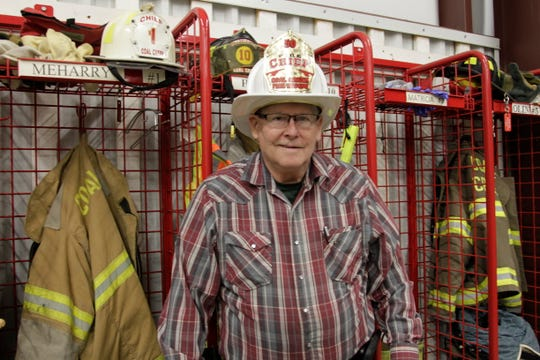 Coal Creek Fire Chief Judd Meharry celebrated 50 years as a volunteer firefighter in New Richmond.
