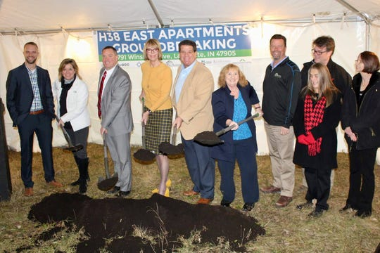 It was all smiles at a Dec. 19 groundbreaking for H38 East Apartments, a low-incoming housing development at 3791 Winston Drive in Lafayette.