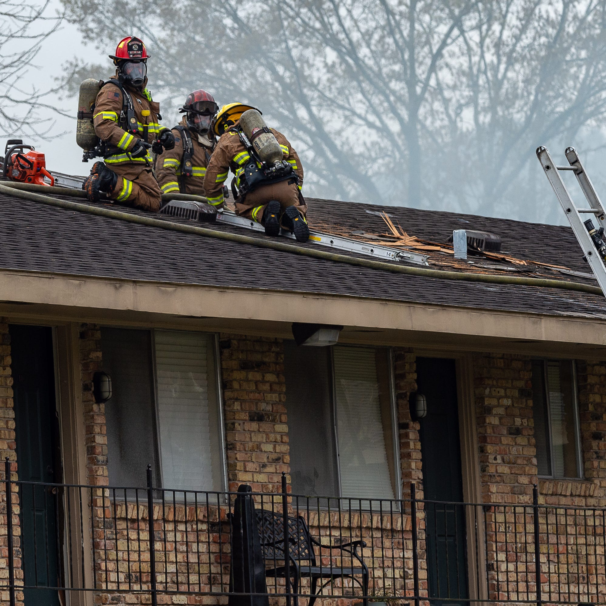 Two firefighters injured in apartment fire on South College Road
