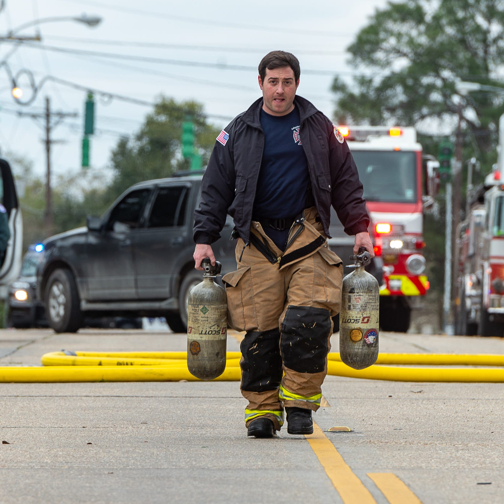 Apartment fire first general alarm in Lafayette in quarter century