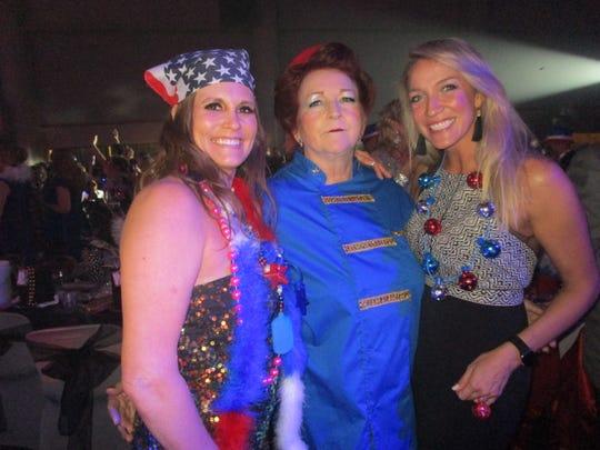 Holly Broussard, Susan Moncrief and Hannah Mason
