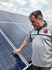 Terry Chambers, a mechanical engineering professor at the University of Louisiana at Lafayette, gives a tour of the school's Photovoltaic Applied Research and Testing (PART) Lab.