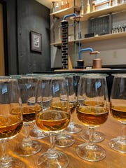 A tasting at the MGP distillery in Lawrenceburg, Indiana, just outside Cincinnati.