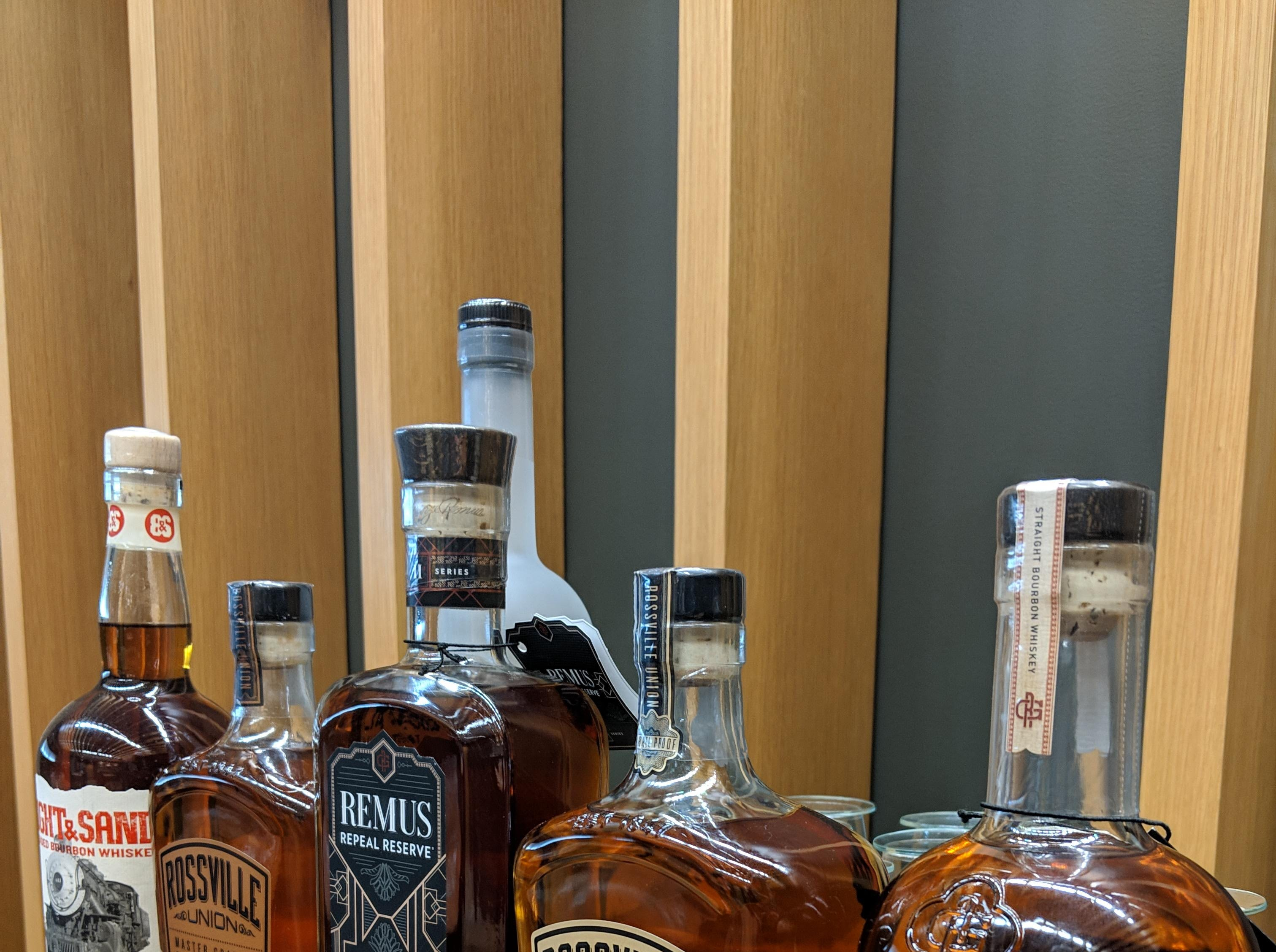 Some of the brands produced at the MGP distillery in Lawrenceburg, Indiana, just outside Cincinnati.