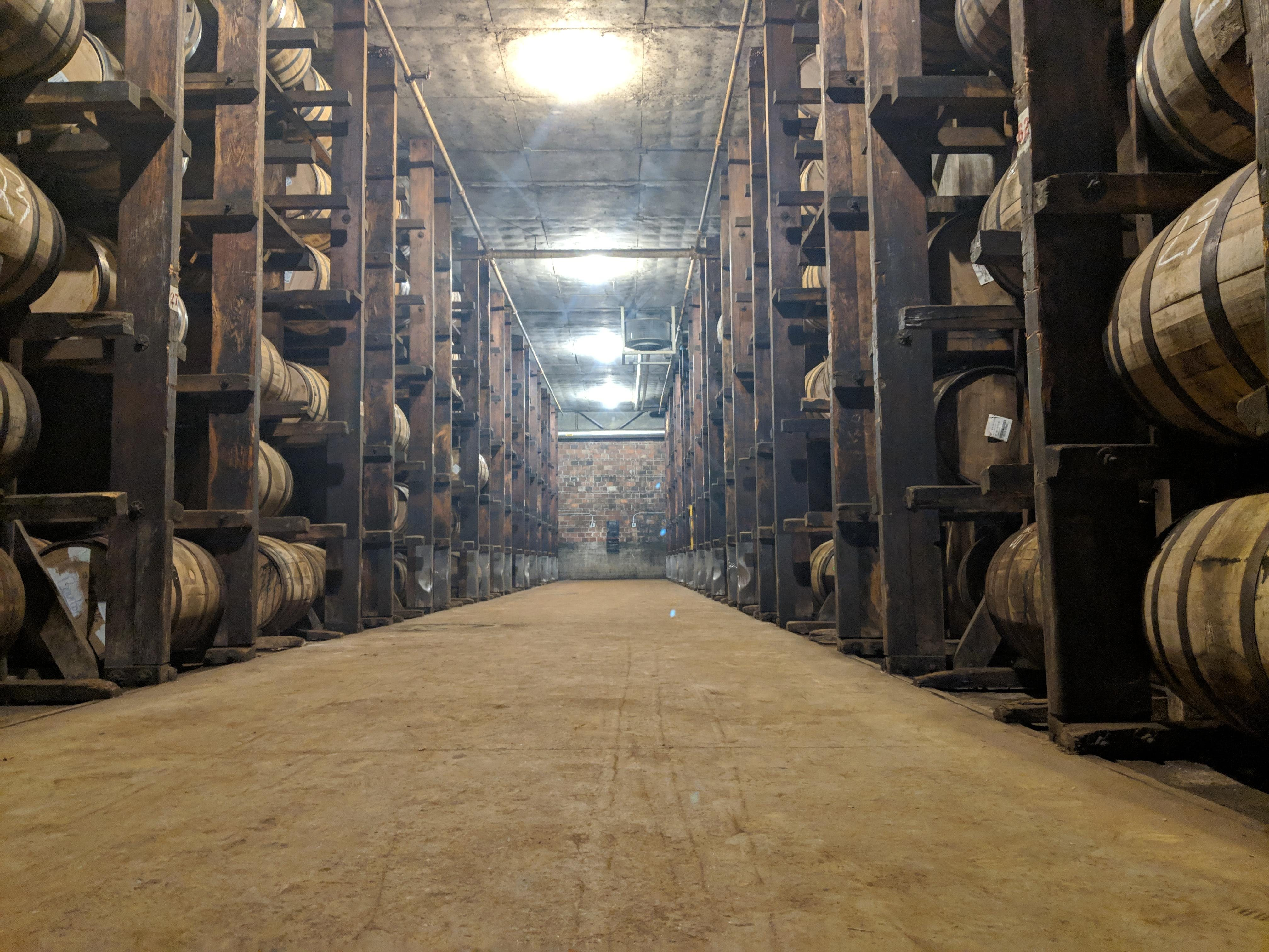 A rickhouse at the MGP distillery in Lawrenceburg, Indiana, just outside Cincinnati.