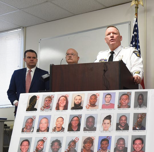 Mansfield Police Chief Ken Coontz speaks last week during a press conference. Coontz will be stepping down as police chief on April 5 and will be the City of Mansfield's new human resources director starting April 8.