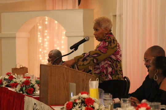 Daisy Alford-Smith, who served for years in the private and public health sectors, was the keynote speaker at the Black Heritage Council's 41st annual awards banquet Saturday.  She spoke in favor of continued expansion of Medicaid, easy-access health programs and community health centers.