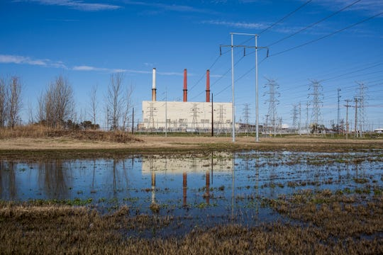 March 04, 2019 - A view of the retired Tennessee Valley Authority's Allen Fossil plant. Memphis' Sand aquifer is sitting below one of the most polluted coal ash landfills in the country, and levels of arsenic found in the nearby groundwater are 350 times higher than what is considered safe, according to a study by the Environmental Integrity Project.