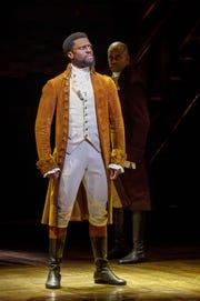 """Michael Luwoye as """"Hamilton."""""""