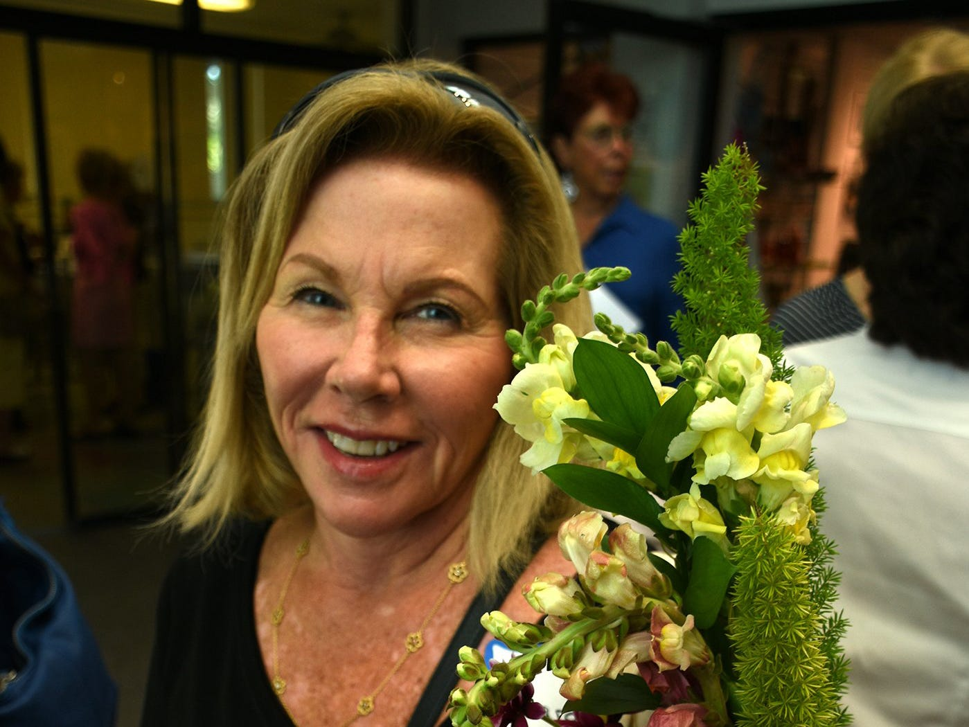 Carol Solarino made this floral arrangement in a class led by Diane Hughes and Juliette Flasche. The Calusa Garden Club Gardening Expo at Marco Island Center for the Arts on Saturday displayed beautiful arrangements and showed people how to create their own.