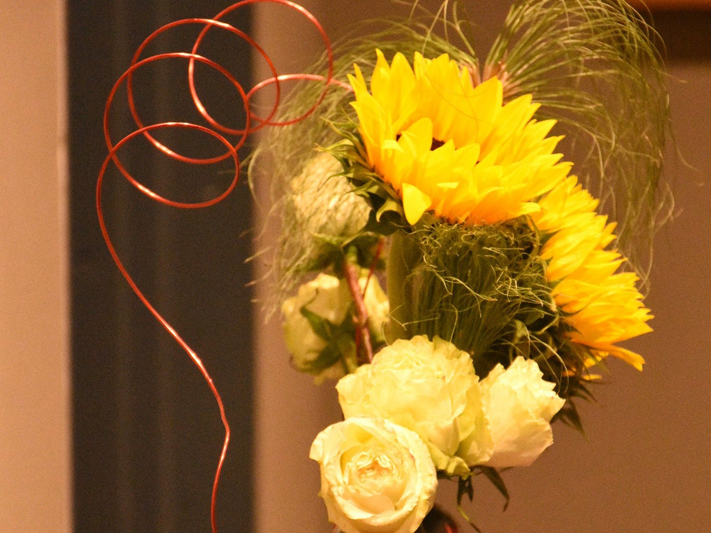 """This arrangement is titled """"Temptress in a Teapot."""" The Calusa Garden Club Gardening Expo at Marco Island Center for the Arts on Saturday displayed beautiful arrangements and showed people how to create their own."""