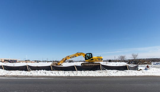Construction equipment was spotted March 3 on an empty lot slated for a new Aldi supermarket adjacent to the Woodman's Market in Menomonee Falls.