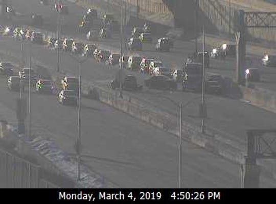 This freeway camera image shows a crash on eastbound I-94 near 84th Street, according to the Wisconsin Department of Transportation.