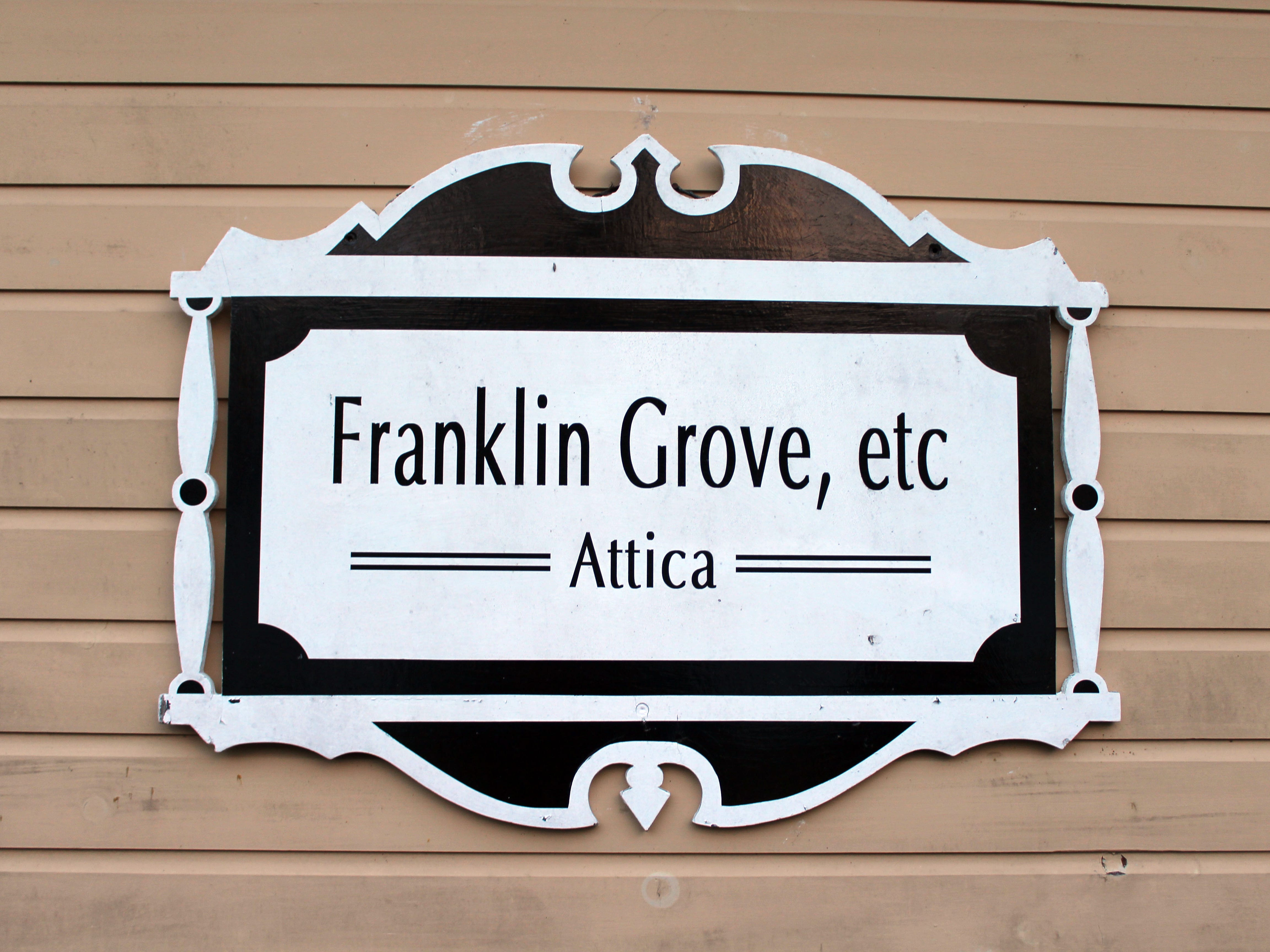 Franklin Grove Etc. was named for Franklin Grove, Ill., which was near owner Cathy Cryor Burgweger's grandmother's farm, where she enjoyed many a family dinner.