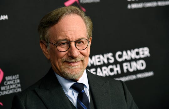 "Steven Spielberg, shown at ""An Unforgettable Evening"" benefiting the Women's Cancer Research Fund last week, has said he intends to support rule changes that could block Netflix from Oscars-eligibility"