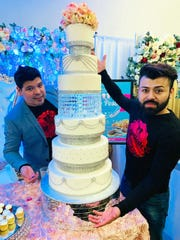 Pedro Garcia (left) and Jesús Ramirez are owners of Todo Postres, 1567 W. Oklahoma Ave. They make cakes for weddings, quinceañeras, birthdays, baby showers and bachelorette parties, along with cake by the slice.