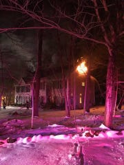 Whitfield Court home catches fire on March 2 in Rockaway Township.