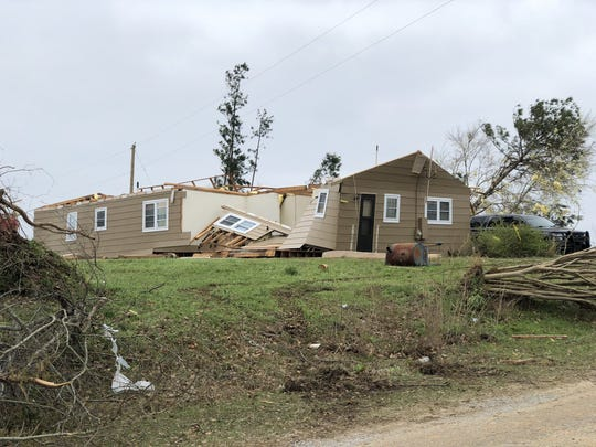 A home in the Beauregard section of Lee County on Monday morning.
